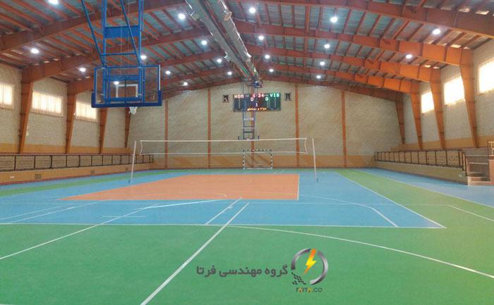 افتتاح سالن ورزشی شهید حسین اسماعیلیان آران و بیدگل
